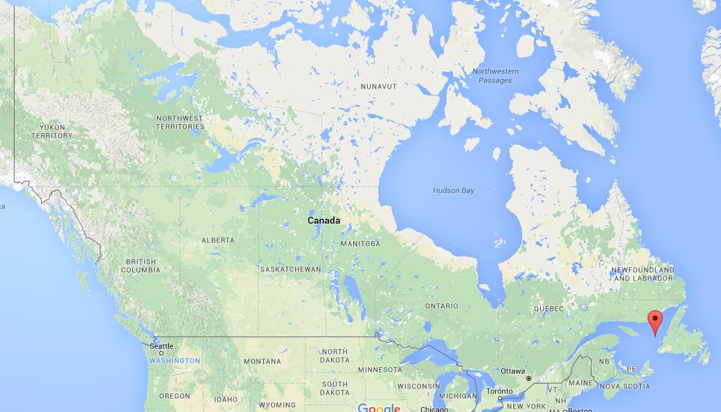 Where is Gulf of St Lawrence on map Canada