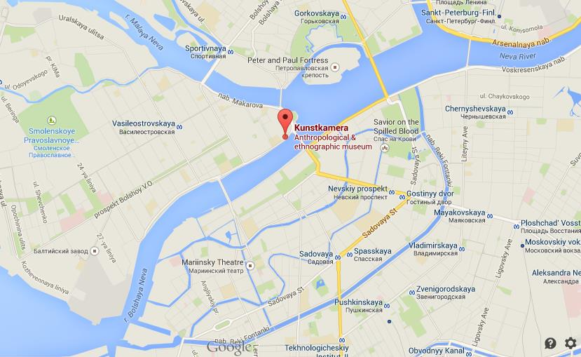 Where is Kunstkammer on map of St Petersburg World Easy Guides