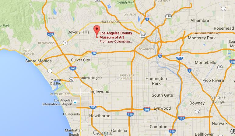 Where is lacma on la map world easy guides location lacma on la map publicscrutiny Image collections