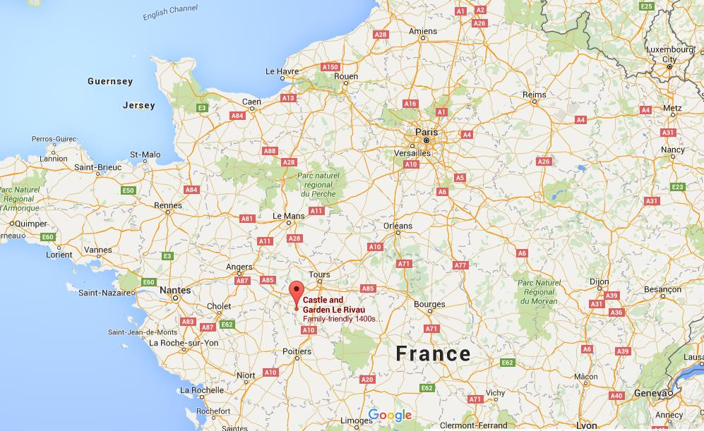Map Of North France.Where Is Le Rivau Castle On Map North France
