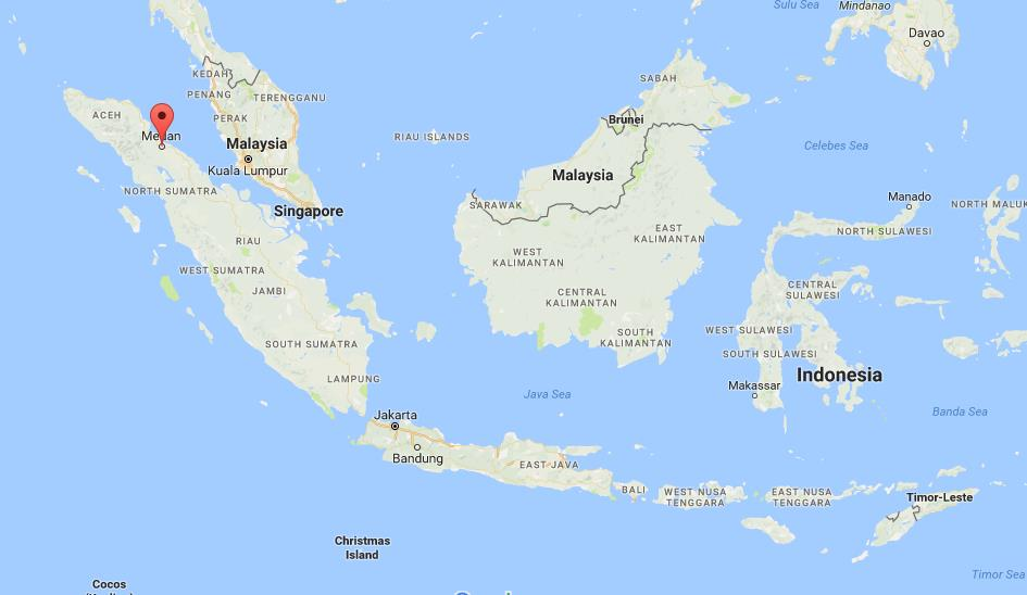 Where Is Medan On Map Indonesia