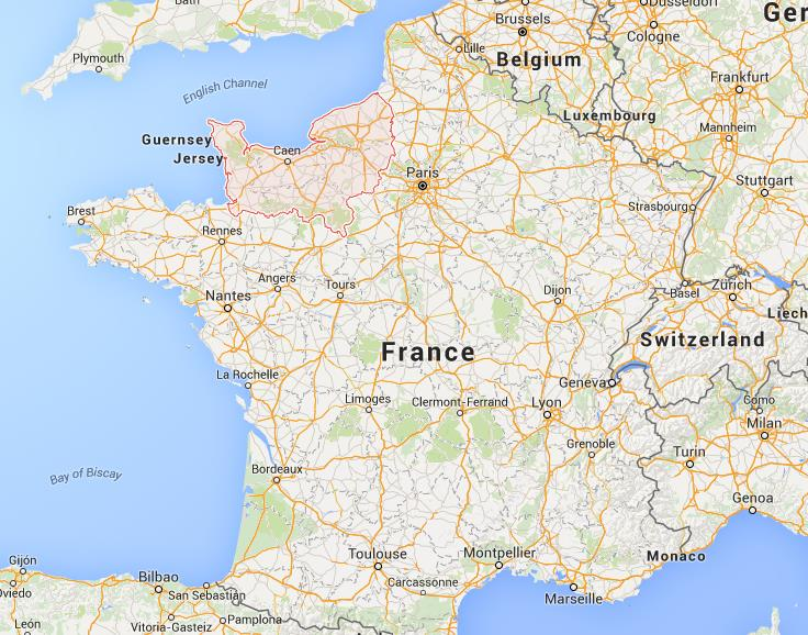Where is normandy on map france gumiabroncs Gallery