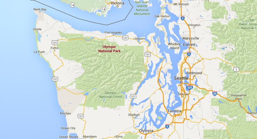 Where is Olympic National Park on map Seattle World Easy Guides