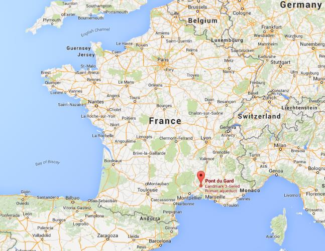 Where is Pont du Gard on map of France World Easy Guides