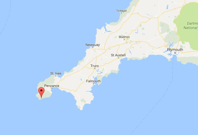 where-is-porthcurno-on-map-cornwall | World Easy Guides