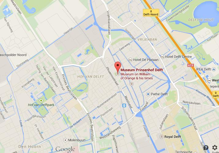 Where is Prinsenhof on map Delft World Easy Guides