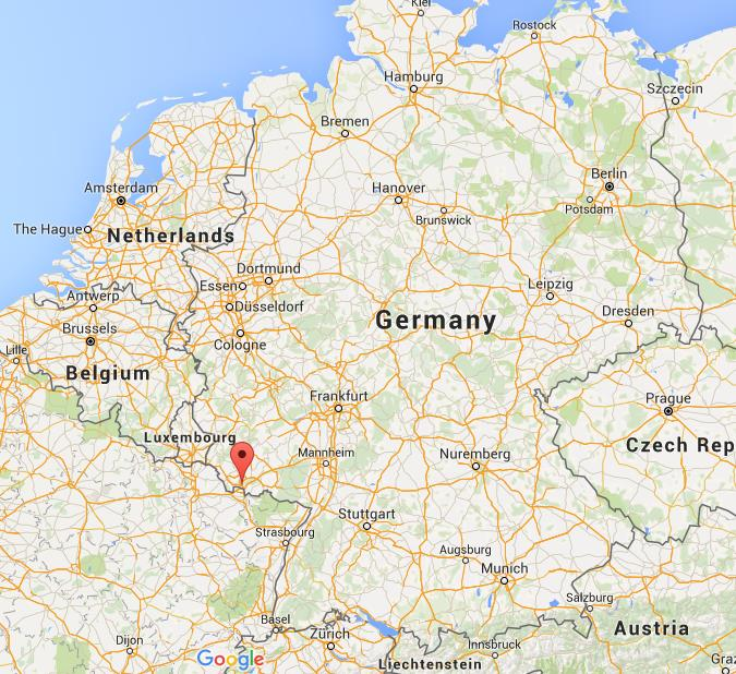 where is saarbrucken on map germany