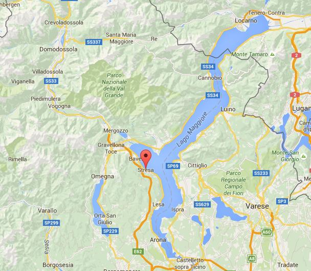 Where Is Stresa On Map Lake Maggiore