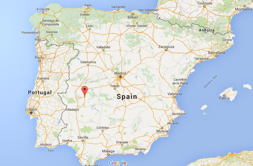 Where is Trujillo on map Spain