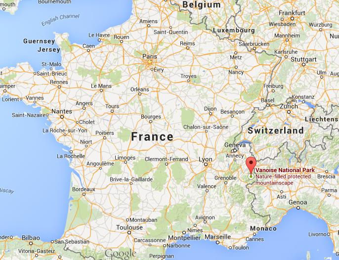 Where is Vanoise National Park on map France World Easy Guides