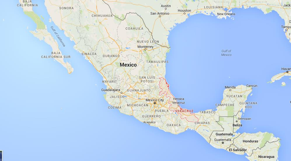 Where is Veracruz on map Mexico