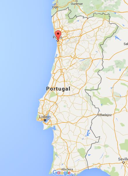 Where is Vila Nova de Gaia on map Portugal World Easy Guides