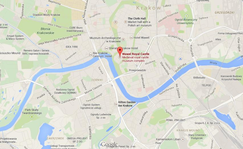 Where is Wawel Royal Castle on map Krakow World Easy Guides