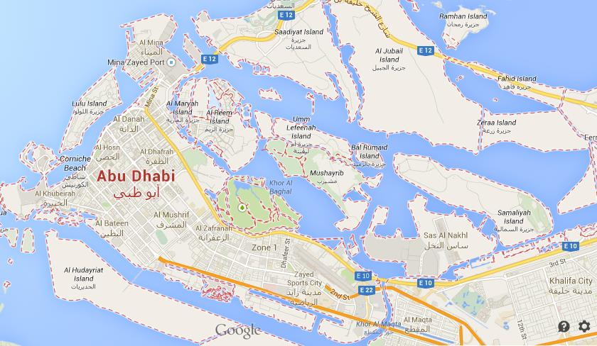 map of Abu Dhabi Centre