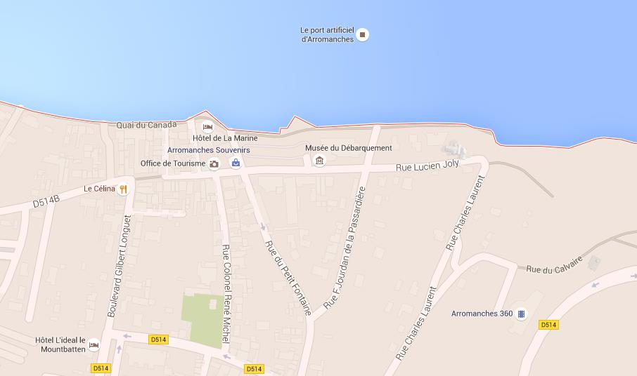 Map Of ArromancheslesBains - Rue france map