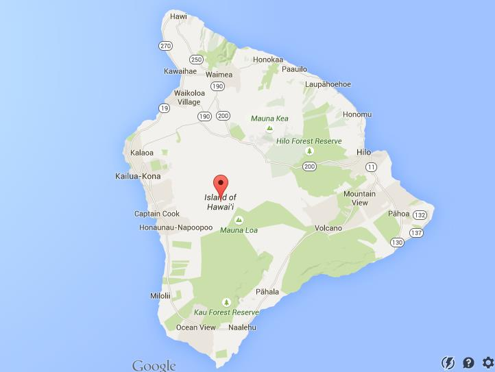 Map Of Big Island Hawaii