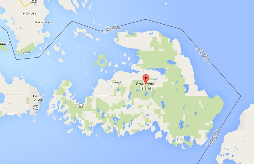 Map of Drummond Island Drummond Island Map on