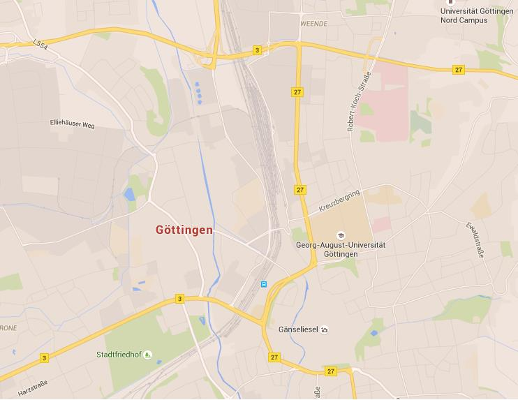 Map Of Germany Gottingen.Map Of Gottingen
