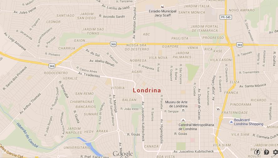 Map Of Londrina World Easy Guides - Londrina map