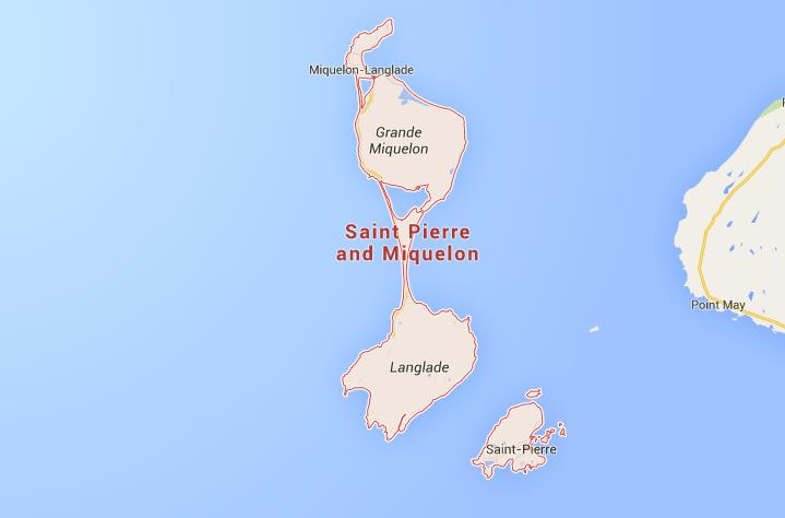Map of St Pierre et Miquelon World Easy Guides