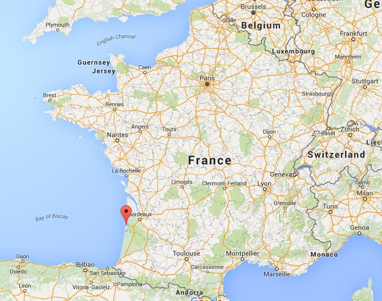 Where is Arcachon on map France