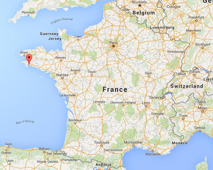 Where is Benodet on map France World Easy Guides