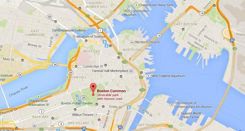 Where Is Boston Common On Map World Easy Guides - Where is boston