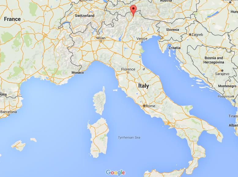 Where is Bressanone on map Italy