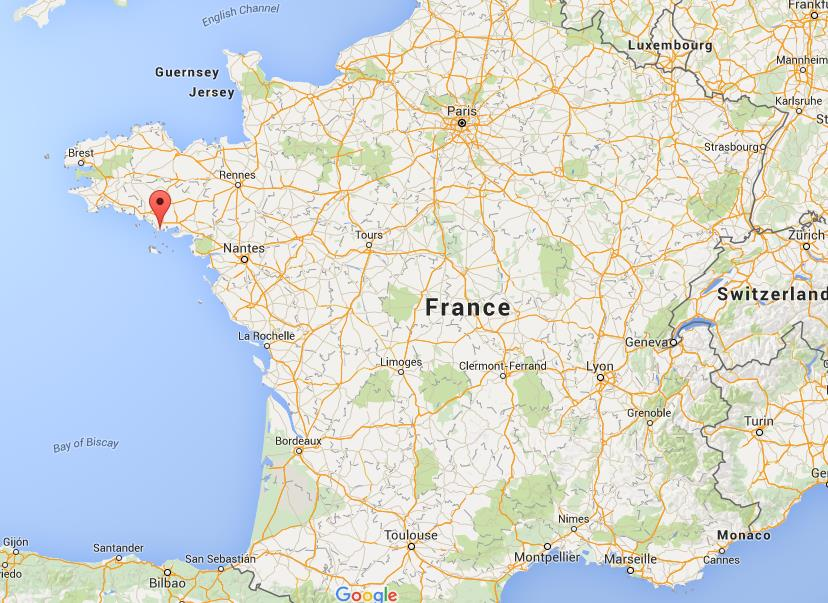 Where is Carnac on map France  World Easy Guides