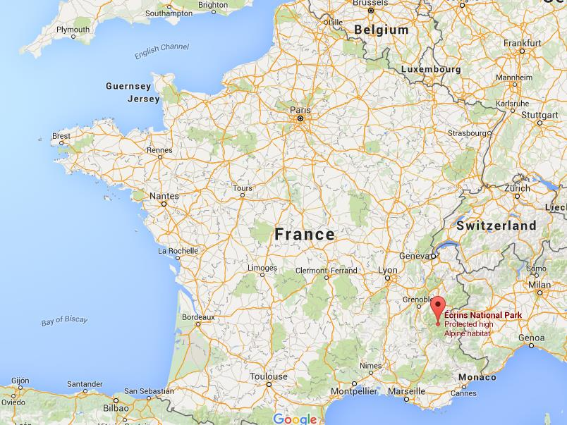 Location Of France On World Map.Where Is Ecrins National Park On Map France