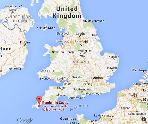 Where Is Pendennis Castle On Map England