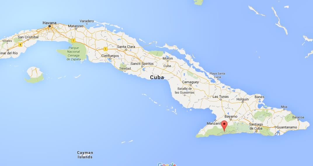 Where is Pico Turquino on map Cuba World Easy Guides