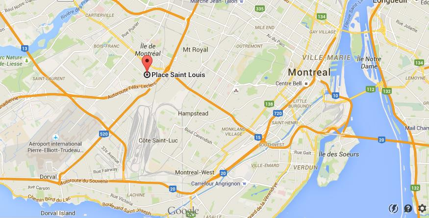 Where is Place St Louis on map Montreal