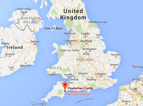 Where Is London On The Map Of England.Where Is Powderham Castle On Map England