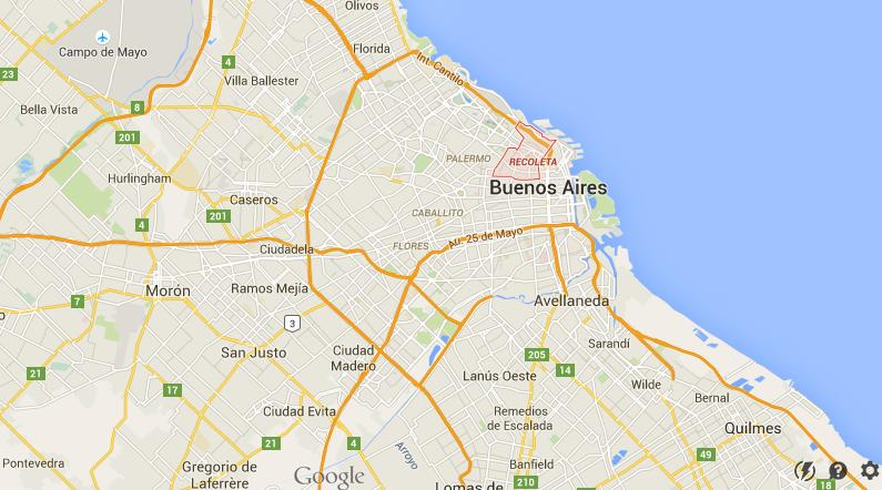 Where Is Recoleta On Map Buenos Aires World Easy Guides - Where is buenos aires
