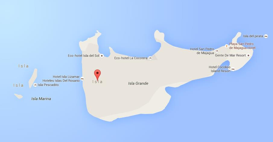 Map of Rosario Islands World Easy Guides