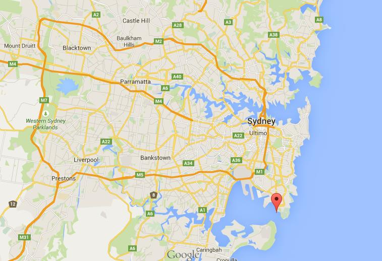 Where is Bare Island on map of Sydney World Easy Guides
