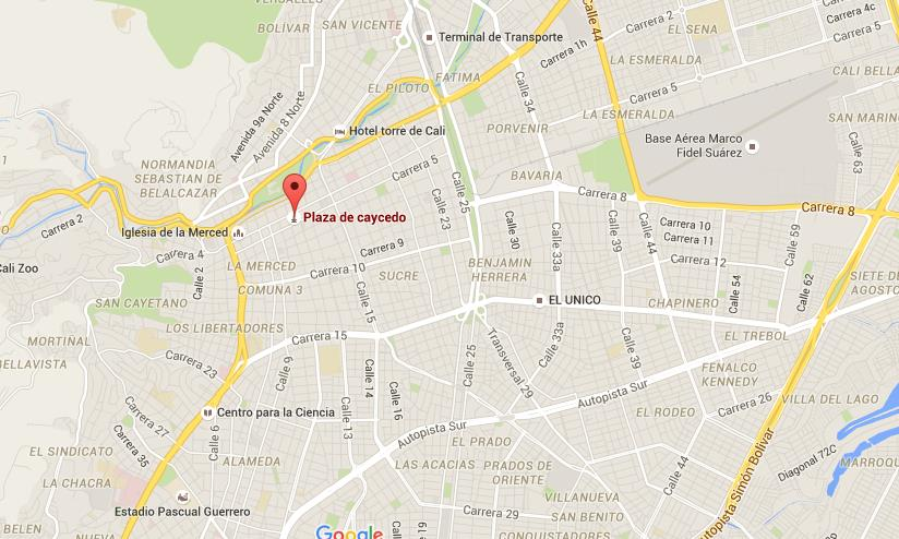Where Is Plaza Caicedo On Map Cali World Easy Guides - Map of cali