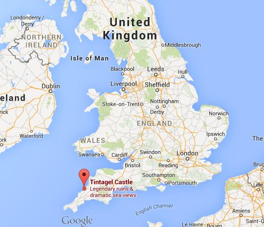 Where is tintagel castle on map of england world easy guides location tintagel castle on map of england gumiabroncs Choice Image