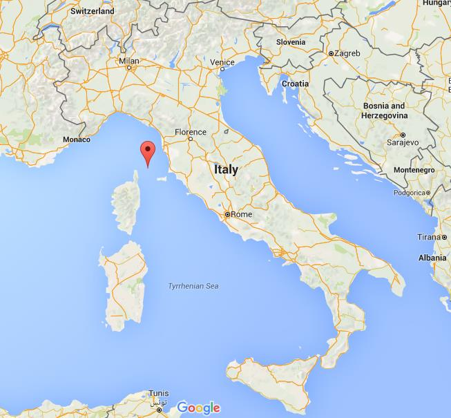 Where is Capraia on map Italy World Easy Guides