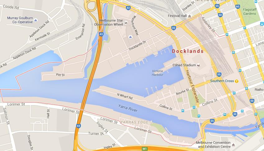 Map Of Docklands