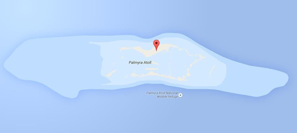 Map Of Palmyra Atoll World Easy Guides