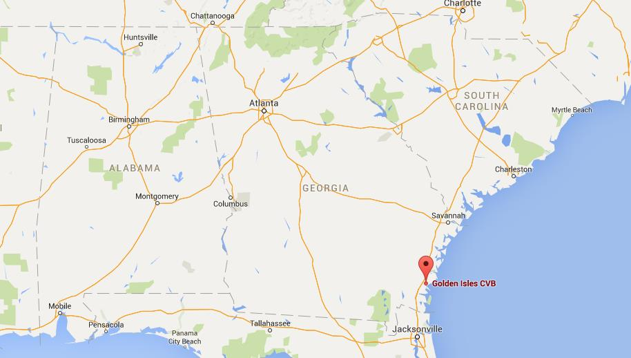 Map Of Georgia Golden Isles.Where Are Golden Isles On Map Georgia