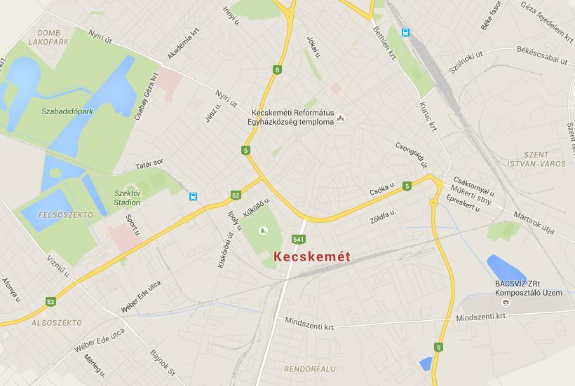 Map of Kecskemet World Easy Guides