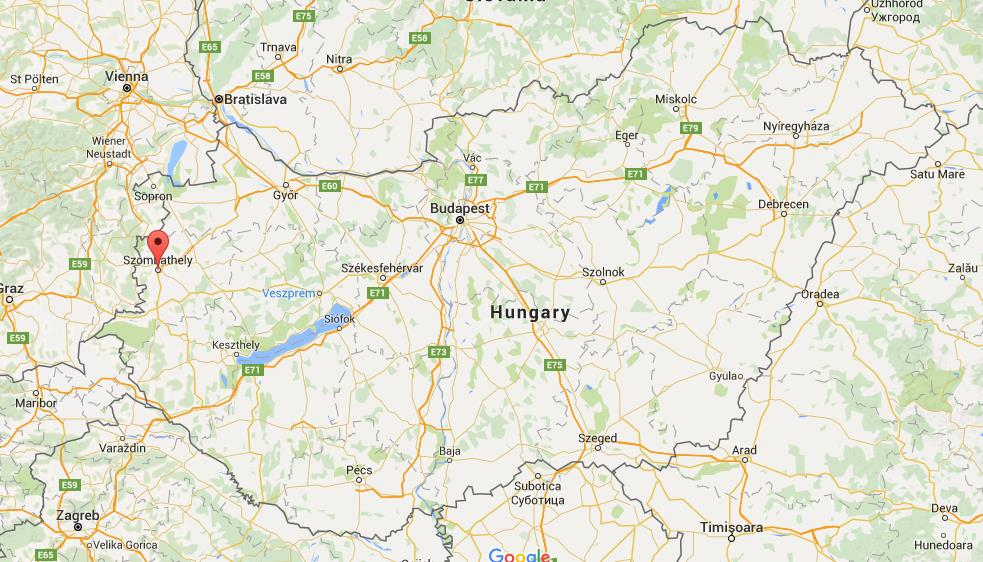 Where Is Szombathely On Map Hungary on tanzania location map