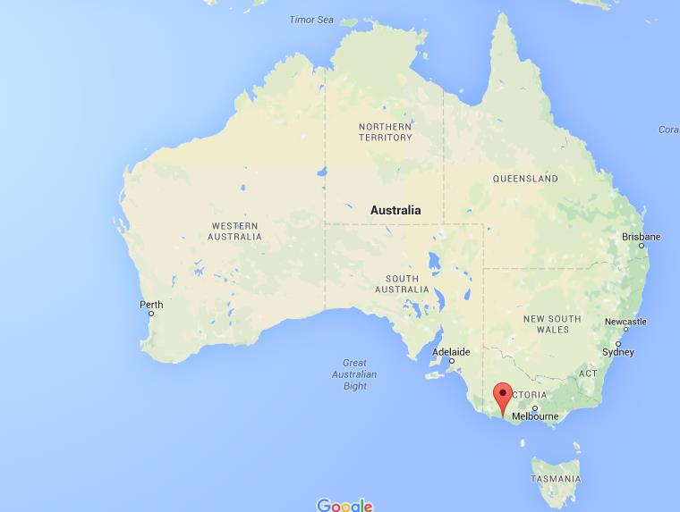 Where is Warrnambool on map Australia