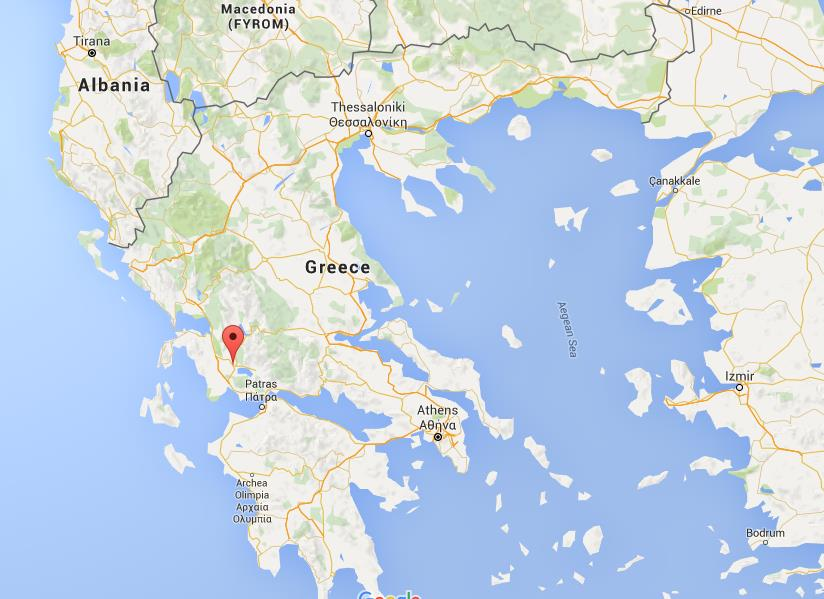 Where is Agrinio on map Greece