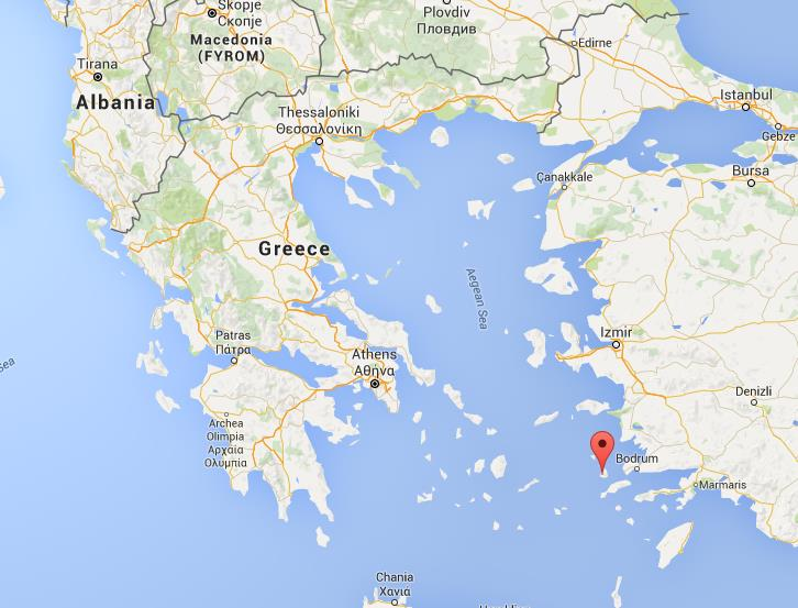 Where is Kalymnos on map Greece