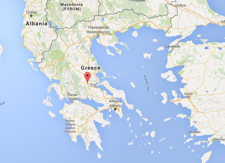 Where is Lamia on map Greece