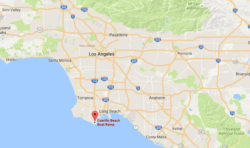 Where is Cabrillo Beach on map Los Angeles on